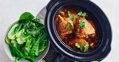 This kid-friendly sticky honey chicken is cooked in the convenience of the slow cooker and only needs 5 ingredients -winner, winner! Slow Cooked Meals, Slow Cooker Recipes, Cooking Recipes, Slow Cooking, Pressure Cooking, Healthy Cooking, Garlic Chicken Recipes, Honey Garlic Chicken, Comfort Food List