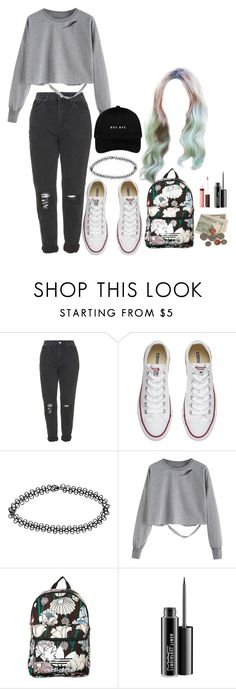 """Untitled #243"" by jenn265 ❤ liked on Polyvore featuring Topshop, Converse, Boohoo, adidas Originals, MAC Cosmetics and Burt's Bees"