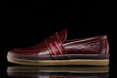 premium selection 183da 32b47 Overview Adidas Acapulco Style   BB8427 Color  Collegiate Burgundy  Gum  Materials  Leather