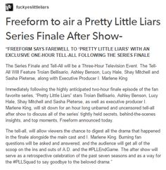 PLL news - Series Finale After Show