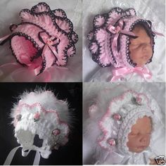 Crochet Pattern By Beautiful-Babys-Bonnets For Girls Traditional Style Hat #15