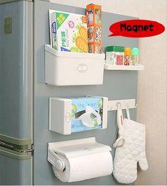 Набор магнитных приспособлений для хранения кухонных принадлежностей на холодильнике, 5 шт.