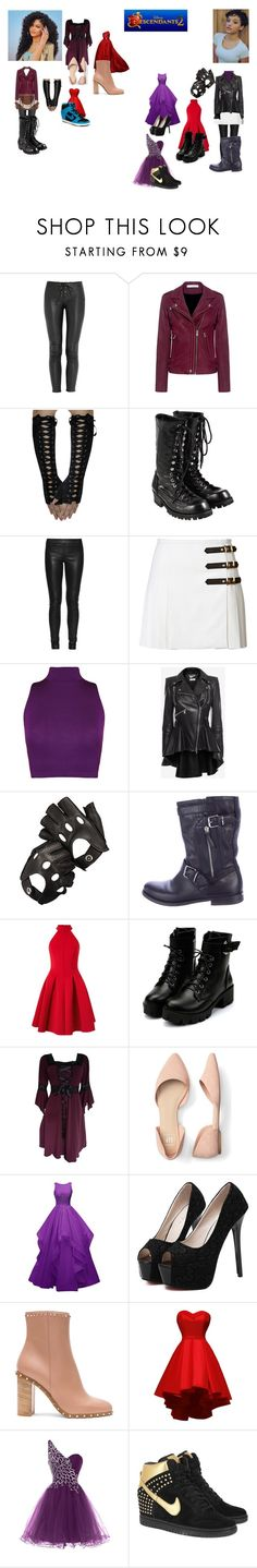 """""""Descendants Oc's: Sibina and Leonie (descendants 2)"""" by iluvpolyvore-498 ❤ liked on Polyvore featuring Faith Connexion, IRO, Comme des Garçons, The Row, Emilio Pucci, WearAll, Alexander McQueen, Aspinal of London, Burberry and Miss Selfridge"""