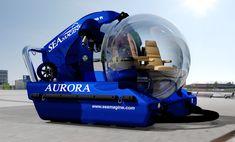 Small Personal Seamagine Private Submarines Aurora 3 person model top view in yellow.