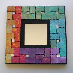 "Mirror with polymer clay mosaic tiles ""Olympia"" by klio1961, via Flickr Mirror Mosaic, Mosaic Art, Mosaic Glass, Mosaic Tiles, Mosaics, Polymer Clay Kunst, Polymer Clay Projects, Clay Crafts, Plastic Fou"