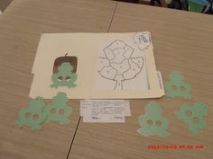 Cooperation:  Leaf puzzle and the  frog puppets