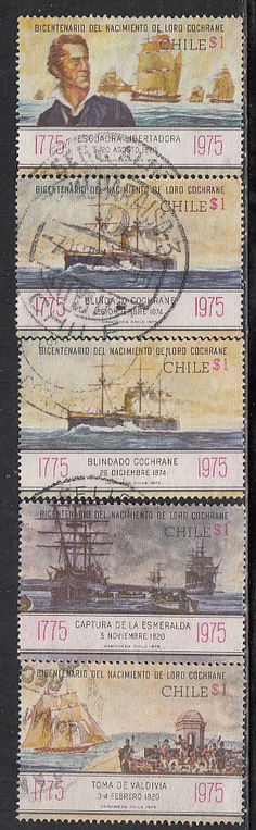 Chile #485-489Used - bidStart (item 43542172 in Stamps, Latin & South America, South America, Chile)