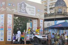 Marco Bulacia en la largada del Dakar 2014