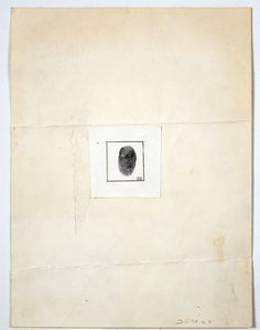 """Robert Rauschenberg's """"Self-Portait [for The New Yorker profile],"""" 1964."""