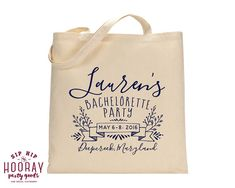 Bachelorette Party Favor Wedding Totes Wedding by SipHipHooray