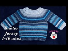How to Crochet Easy Raglan top Pullover Sweater for boys and girls years Crochet for Baby Crochet Baby Sweaters, Crochet Jumper, Crochet Baby Clothes, Crochet For Boys, Easy Crochet, Crochet Ideas, Lion Brand, Girls Sweaters, Pullover Sweaters