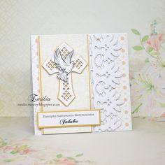 Emilia tworzy: Kartka na bierzmowanie/Card for confirmation Confirmation, Namaste, Cards, Paper, Maps, Playing Cards