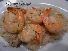 Shrimp with Sherry Cream Sauce Seafood Appetizers, Seafood Dishes, Shrimp Scampi Sauce, Scampi Recipe, Shrimp Recipes, Pasta Recipes, Low Sodium Recipes, Garlic Shrimp, Cooking On A Budget