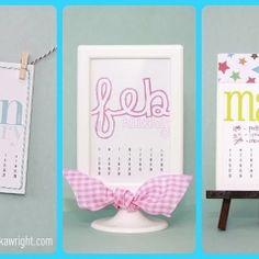 Calendar Cuties…January thru March 2012