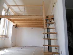 Small Loft Apartments, Small Apartment Interior, Loft Spaces, Mezzanine Bedroom, Loft Room, Bedroom Loft, Loft Bed Plans, Bunk Beds Built In, Tiny House Loft