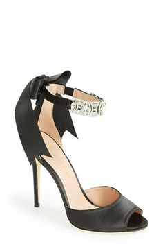 Black bow heels by Enzo Angiolini