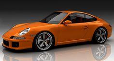 Love the modernized Fuchs wheels - Retro Styling Kit for the Porsche 997 New Sports Cars, Super Sport Cars, Super Cars, Porsche Models, Porsche Cars, Porsche Panamera, Porsche Cayenne, Vintage Porsche, Cars