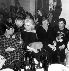 David Bowie and Debbie Harry at Ramones party, 1979