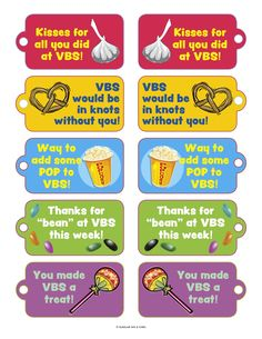 Thanks For Volunteering | VBS Volunteer Thank You Candy/Snack Tags | Guildcraft Arts & Crafts ...