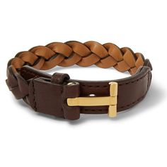 e378d23b605 Gold Plated Leather Bracelet by Tom Ford. Leather TutorialTom FordBraided  LeatherFashion BraceletsMens ...