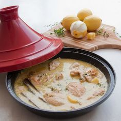 Chicken and camel milk (or buttermilk) tagine. Incredibly easy and infinitely impressive