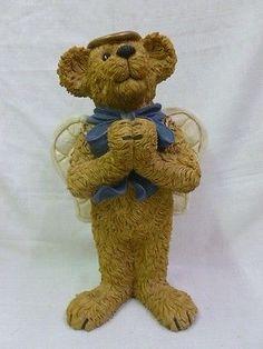Boyds-Bear-Angel-Bearybless-Garden-Statue-4015210-NIB