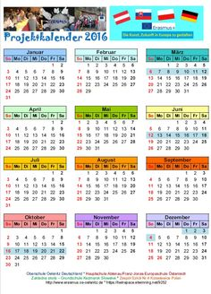 Projektkalender 2016