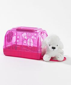 Look at this Danger the Dog Stuffed Animal & Carrier for 18'' Doll on #zulily today!