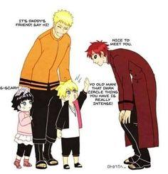 Naruto, Bolt, Himawari and Gaara                                                                                                                                                      More