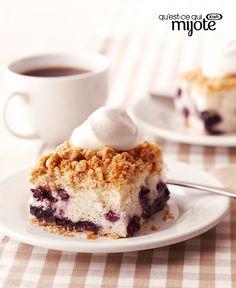 Gâteau streusel aux bleuets #recette