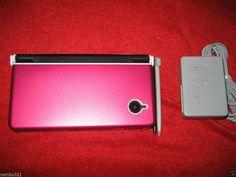Nintendo DSi ONYX BLACK Handheld System NDS DSI DS game console PINK HARD CASE #Nintendo
