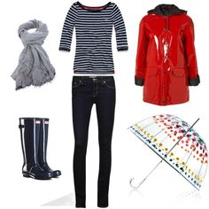 Rainy day - Winter 2 by minime80 on Polyvore featuring Hollister Co., J Brand, Faliero Sarti, Totes and Topshop