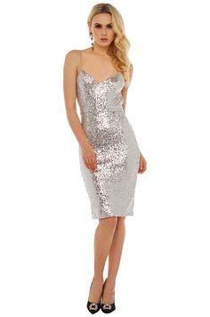 Rehab Shine On Backless Sequin Dress  da634b9af