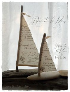 Driftwood+Crafted+Beach+Decor+Sail+Boat+French+by+LoveEmbellished,+$11.00