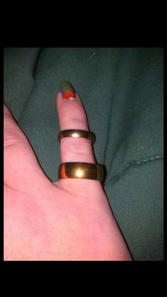 FREE GIFTS & GOLD!! 2 NEW Gold Stainless Steel Unisex Rings!!! * Make Offers!!!