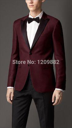 Heart & Dagger Burgundy Suit in Birdseye Fabric in Skinny Fit ...