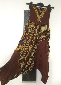 Kaufe meinen Artikel bei #Kleiderkreisel http://www.kleiderkreisel.de/damenmode/haremshosen/114382794-haremshose-aladdinhose-pumphose-senfgelb-braun-100-baumwolle-hippie-goa-hipster-afrika-jumpsuit