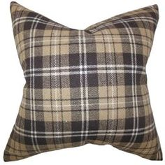 Baxley Plaid Wool Throw Pillow
