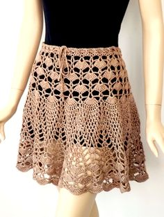 Crochet Skirt Birthday Girl Skirt crochet pattern by Doris Chan, in the DesigningVashti shop. Doris used our newest Lotus yarn for it: Lustrous Tan. - A tween girl party skirt to crochet, in Girl sizes Junior sizes Two yarn weight options: sport (CYC Crochet Skirt Pattern, Crochet Skirts, Crochet Clothes, Knit Crochet, Crochet Patterns, Skirt Patterns, Coat Patterns, Blouse Patterns, Sewing Patterns