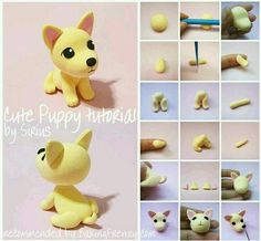 Imagem de cachorrinho and diy - Tap the pin for the most adorable pawtastic fur baby apparel! You'll love the dog clothes and cat clothes! - Tap the pin for the most adorable pawtastic fur baby apparel! You'll love the dog clothes and cat clothes! Polymer Clay Figures, Cute Polymer Clay, Polymer Clay Animals, Cute Clay, Polymer Clay Miniatures, Fimo Clay, Polymer Clay Charms, Polymer Clay Projects, Polymer Clay Creations