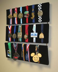 displaying medals - could make one like this?