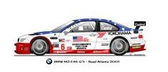 BMW M3 GTR E46 2001 #6 Lemans Car, Racing Stickers, Bmw E60, Car Vector, Import Cars, Car Wrap, Bmw Cars, Custom Cars, Cars And Motorcycles