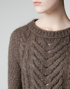 ARAN KNIT DRESS - LOVE THE FRONT OF THIS!