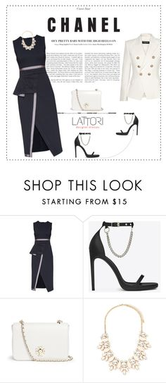 """LATTORI dress 5"" by mell-2405 ❤ liked on Polyvore featuring Lattori, Yves Saint Laurent, Tory Burch, Forever 21, Balmain, dress, dresses and lattori"