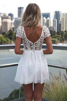 Cute white dress Always check the web portal for 5 perfect looks by using white colored clothing find more women fashion ideas on www.misspool.com