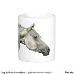 Gray Arabian Horse Equine Portrait Coffee Mug