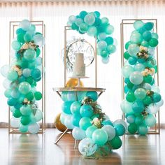 How about some balloon styling for your bridal shower or other wedding related events? #weddingdecor #munaluchibride . . . #Repost @partysplendour  A sea of blues and greens for this gorgeous set up by @maryronisevents  #Repost @maryronisevents  Gorgeous colours for a special client's little mans christening!  Always feel honoured to be part of your special times.  Styling & design @maryronisevents  Pic @foto_vanessa  Balloons @partysplendour  Cake @sweetbloomcakes  Name @lettersbyloulou…