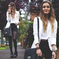 black and white + ombre hair