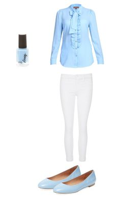"""212"" by atotalgirlygirl ❤ liked on Polyvore featuring Jolie Moi, J Brand and Elorie"