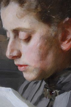 Swedish Painter: Anders Zorn  --  detail of Emma his wife.